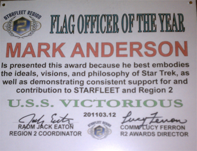 Region Two Flag Officer of the Year 2010