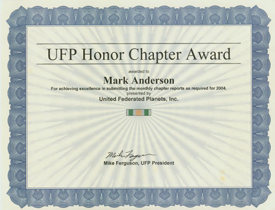Perfect reporting award UFP